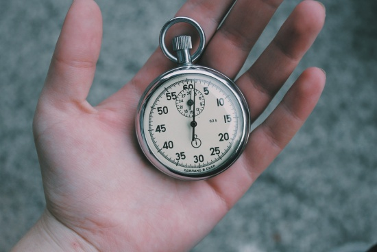 Stopwatch timing the GMAT math section