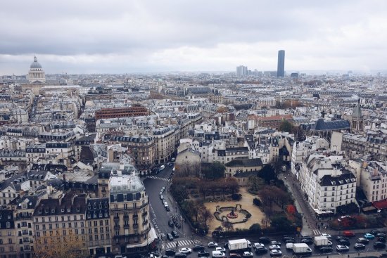 Wide view of Paris and its GMAT test centers