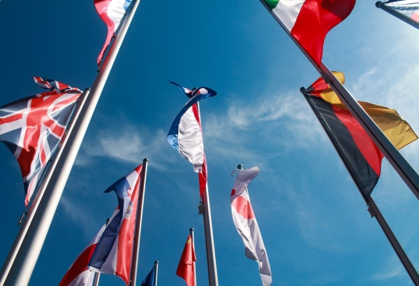 Flags of non-US countries for MBA programs